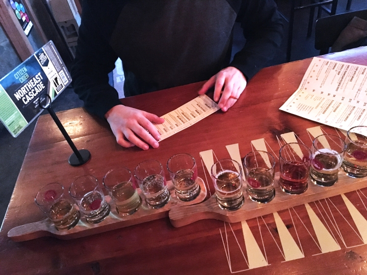 Citizen Cider in Burlington, Vermont via FrolickingAround.com